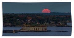 Moonrise Over Ft. Gorges Beach Towel