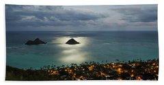 Moonrise Over Lanikai Beach Towel