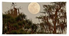 Moonrise Over Southern Pines Beach Towel