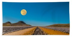 Moonrise Wyoming Beach Sheet by Don Spenner