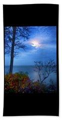 Moonset 1 Beach Towel