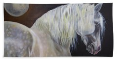 Beach Towel featuring the painting Moonshadow by Phyllis Beiser