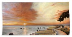Moonstone Cambria Sunset Beach Towel by Michael Rock