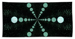 Beach Towel featuring the digital art Moonwalk by Aliceann Carlton