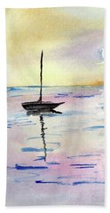 Moored Sailboat Beach Sheet