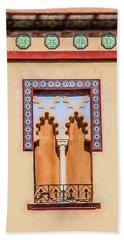Moorish Window Beach Sheet