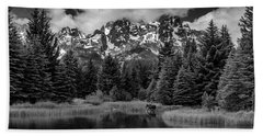 Moose At Schwabacher's Landing Beach Towel