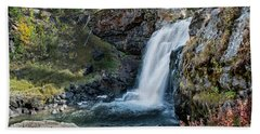 Beach Towel featuring the photograph Moose Falls by Scott Read