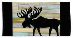 Moose Beach Towel by Paula Brown