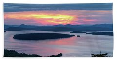 Mooselookmeguntic Lake In The Last Light Of Day - Rangeley Me  -63430 Beach Sheet
