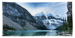 Moraine Lake Blues Beach Towel