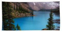 Moraine Lake Beach Sheet by Heather Vopni