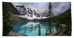 Moraine Lake In The Canadaian Rockies Beach Sheet