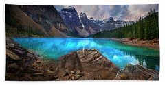 Beach Sheet featuring the photograph Moraine Lake by John Poon