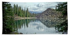 Moraine Lake Canadian Rockies Beach Towel by Lynn Bolt