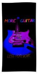 More Guitar Less Homework Beach Towel