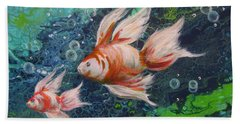 More Little Fishies Beach Towel