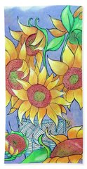 More Sunflowers Beach Towel by Loretta Nash