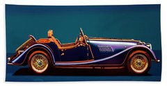 Morgan Roadster 2004 Painting Beach Towel