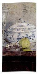 Morisot Berthe Tureen And Apple Beach Towel by Berthe Morisot