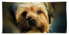 Morkie Portrait Beach Towel