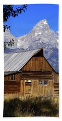 Mormon Row Barn  1 Beach Towel by Marty Koch