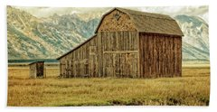 Mormon Row Barn No 3 Beach Sheet