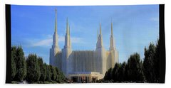 Mormon Temple Dc Beach Towel