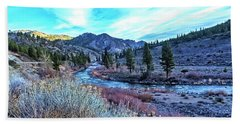 Beach Sheet featuring the photograph Morning Along The Truckee by Nancy Marie Ricketts