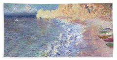 Morning At Etretat Beach Towel