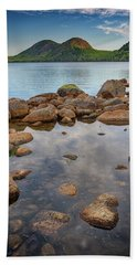 Morning At Jordan Pond Beach Towel by Rick Berk