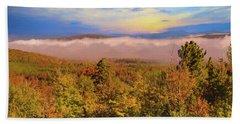 Morning Autumn Landscape Northern New Hampshire Beach Sheet