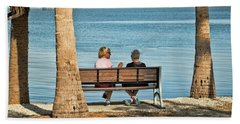 Morning Chat Beach Towel