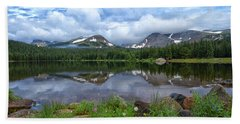 Morning Clouds Over Brainard Lake Beach Towel