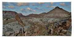 Morning Clouds Over Red Rock Valley Beach Towel