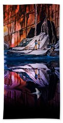 Morning Coffee Beach Towel by J Griff Griffin
