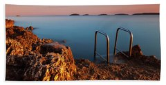 Beach Towel featuring the photograph Morning Colors by Davor Zerjav