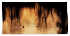 Beach Sheet featuring the photograph Morning Ducks 2017 by Bill Wakeley