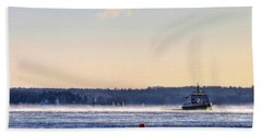 Morning Ferry Beach Towel