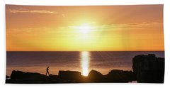 Beach Towel featuring the photograph Morning Fishing by Dmytro Korol