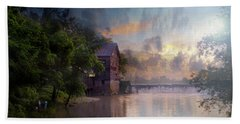 Beach Towel featuring the photograph Morning Fishing  by Joel Witmeyer