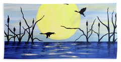 Morning Geese Beach Towel