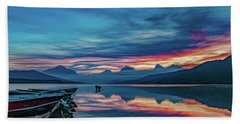 Beach Towel featuring the photograph Morning Glory At Glacier National Park by Lon Dittrick