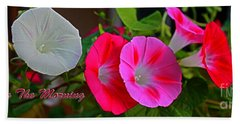 Morning Glory Banner Beach Towel