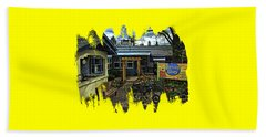 Beach Towel featuring the photograph Morning Glory Cafe Ashland by Thom Zehrfeld