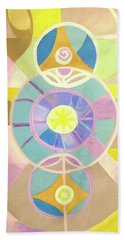Morning Glory Geometrica Beach Towel