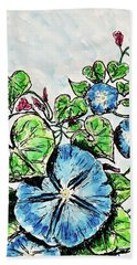 Beach Towel featuring the painting Morning Glory by Monique Faella