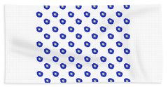 Morning Glory Pattern Beach Towel