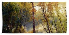 Beach Towel featuring the photograph Morning Glow by John Rivera