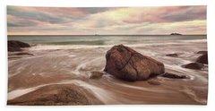 Morning Glow Singing Beach Ma Beach Towel by Michael Hubley